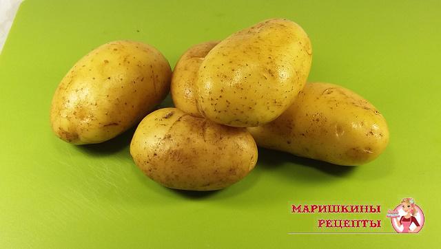 Промытый картофель