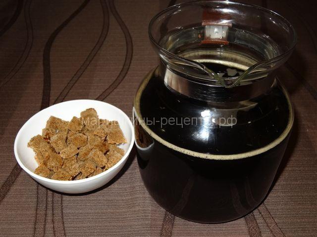 ржаной квас с жженым сахаром