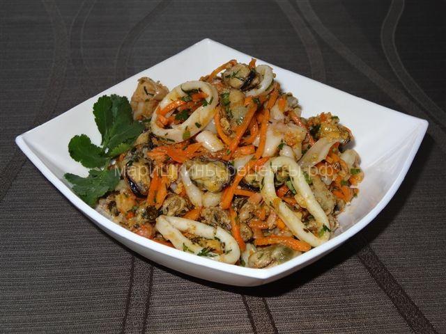 Салат хе из морепродуктов