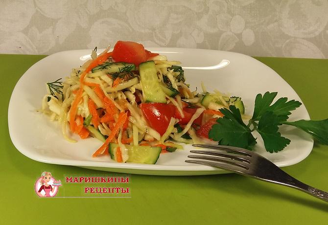 салат из капусты с помидорами