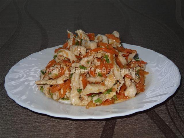 Салат хе из курицы острый