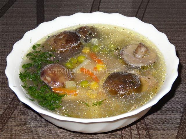суп с опятами замороженными рецепт диетический