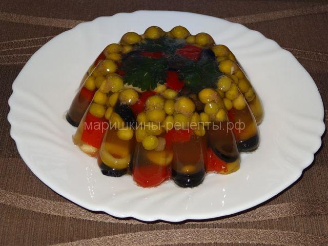 Заливное с овощами
