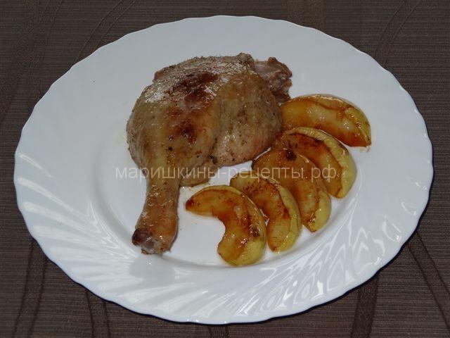 Утиные ножки рецепт с яблоками