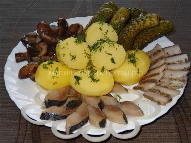 русская закуска с селедкой рецепт с фото