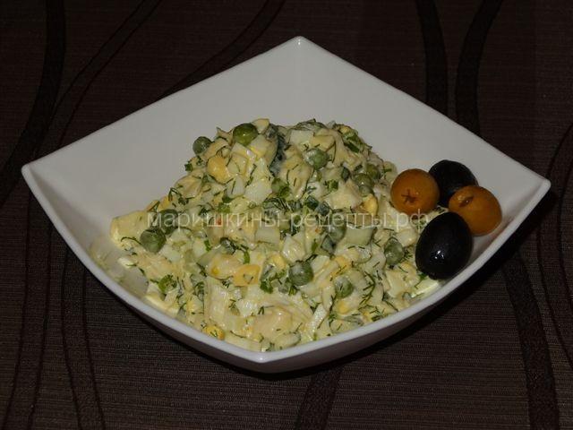 Салат из палтуса