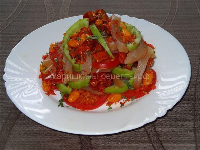Острый салат с болгарским перцем Дыхание дракона