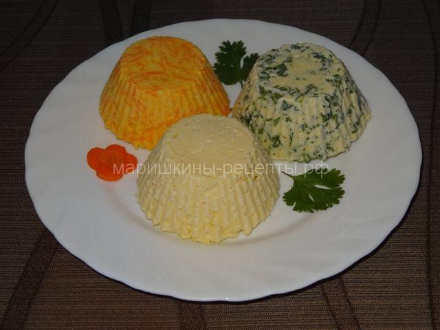 Быстрый салат с сыром и чесноком