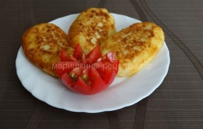 Простые картофельные котлеты из пюре