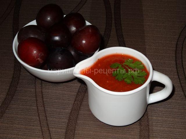 Соус из спелой алычи - асызбал