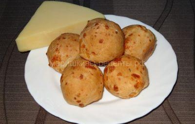 Печёные сырные шарики с чесноком