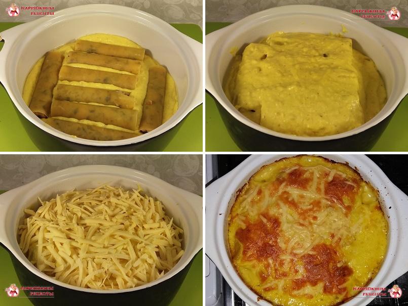 Выкладываем готовый десерт в глубокую тарелку