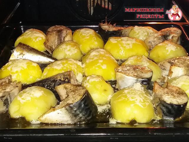 Посыпаем картошку сыром