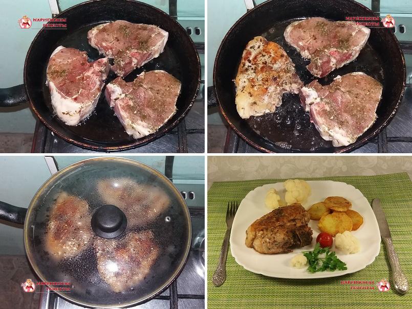 как вкусно пожарить свиную корейку на сковороде