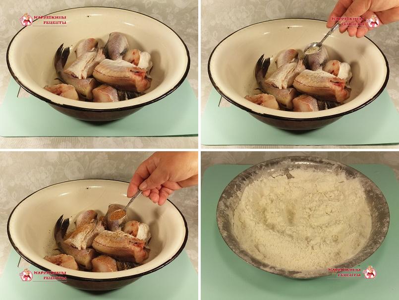Порежем рыбу на порционные куски