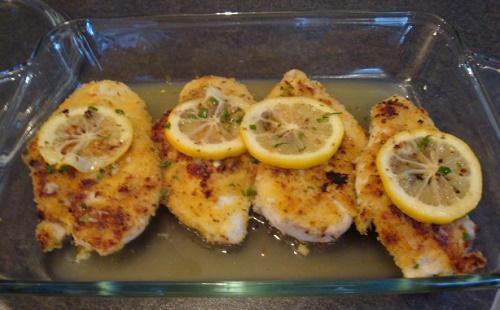Сочная куриная грудка с лимоном и горчицей