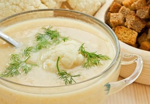 Вегетарианский суп пюре из цветной капусты