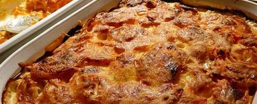 Мясо под шубой с картошкой