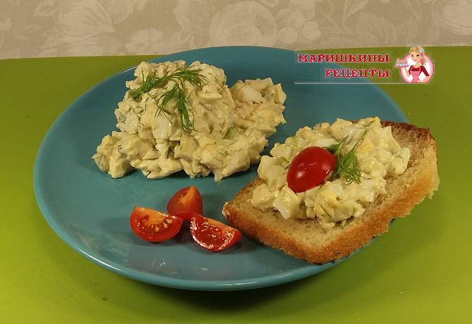 Нежный яичный салат для пикника