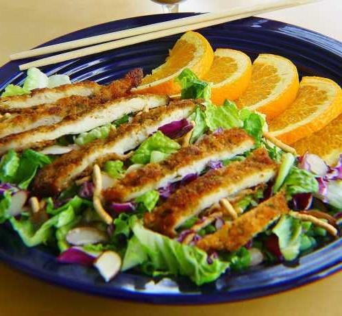 Восточный салат из курицы с медом