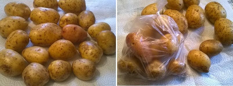 Отварим картофель в микроволновке