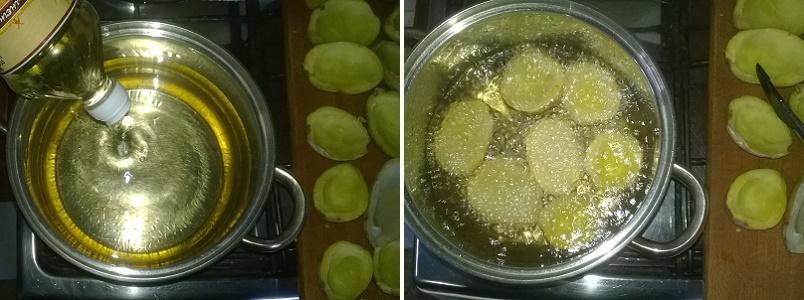 Поместим картофельные лодочки в кастрюлю с маслом