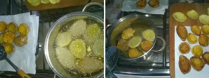 Поджарим картофельные лодочки во фритюре