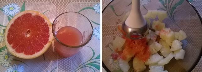 Легкий смузи с грейпфрутом на завтрак