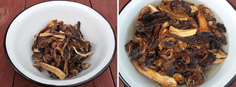 Фаршированные куриные ножки с лесными грибами