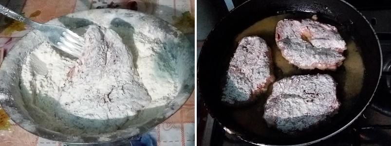 Cтейк из свиной шейки на сковороде для романтического ужина