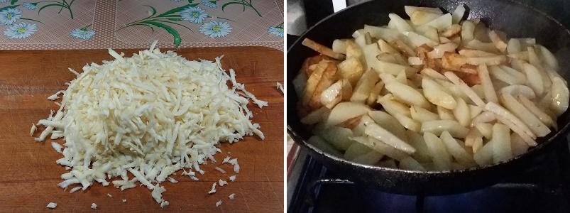 Жаренный в масле картофель с сельдереем и яблоком