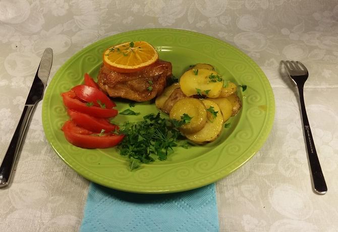 Курица в апельсиновом маринаде с медом в духовке