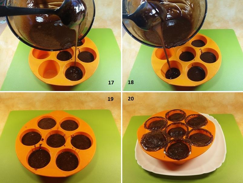 Кексы с кусочками шоколада в силиконовых формочках