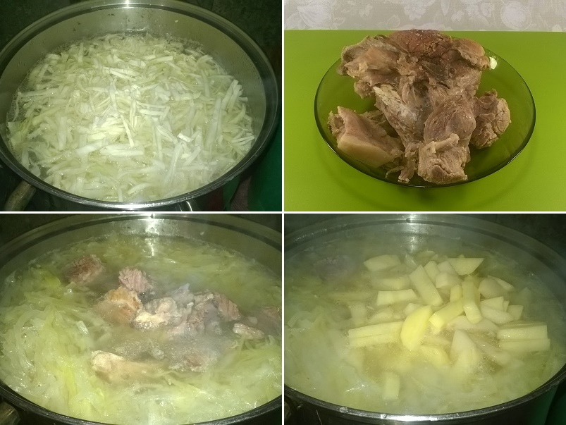 Как приготовить свинину с капустой и кабачком