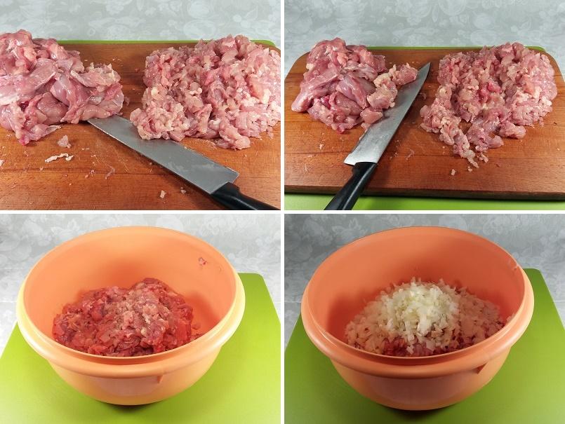 Куриные котлеты рубленые с сыром и черносливом