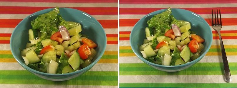 Диетический салат из стеблей сельдерея