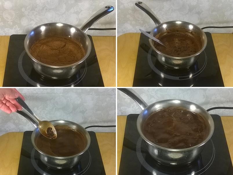 Размешиваем шоколадную массу