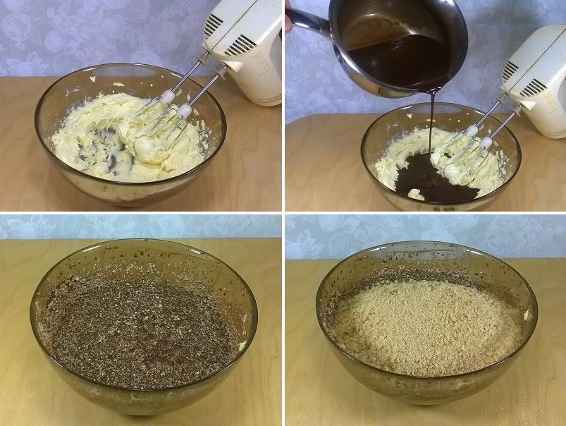 Соединяем сухари и шоколадную массу