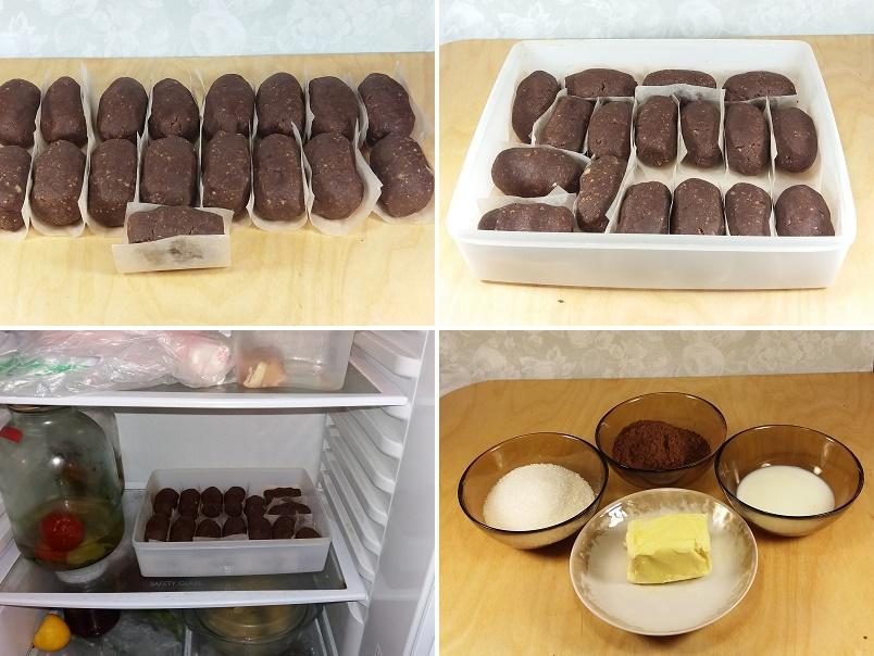 Ставим пирожное картошка в холодильник охладиться