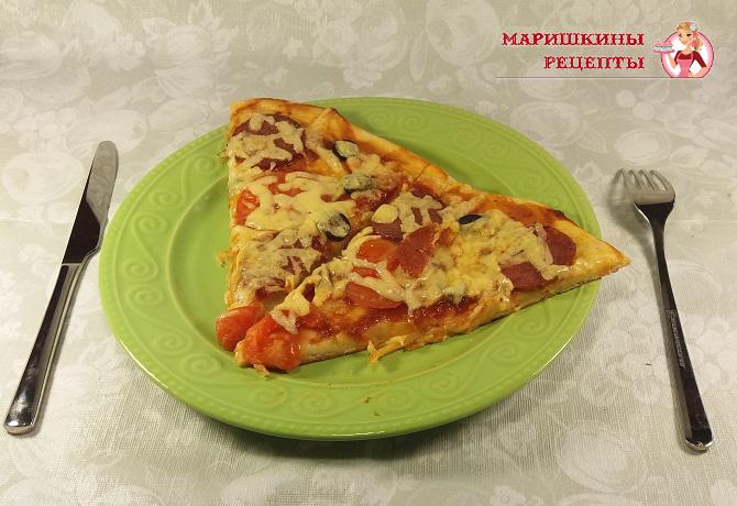 рецепт настоящей итальянской пиццы на тонком тесте