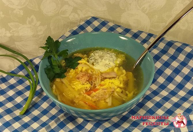 суп кудрявый с яйцом