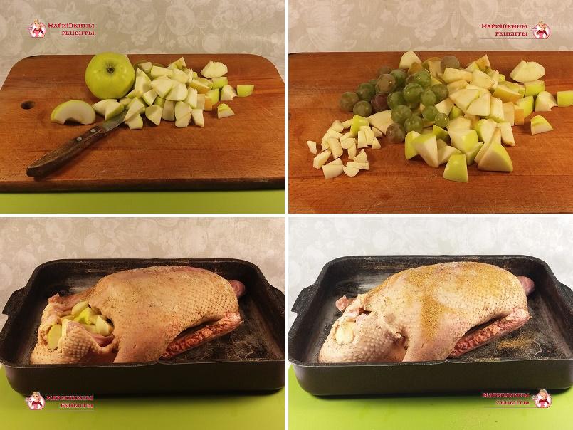 Утка с яблоками и картошкой - рецепт пошаговый с фото