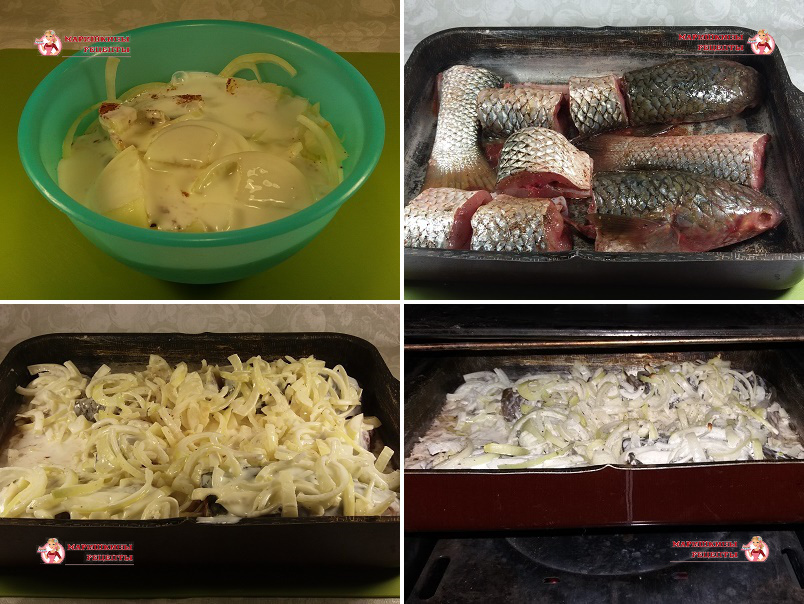 Закладываем в духовку подготовленную рыбу