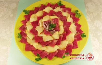 Салат Хризантема вегетарианский