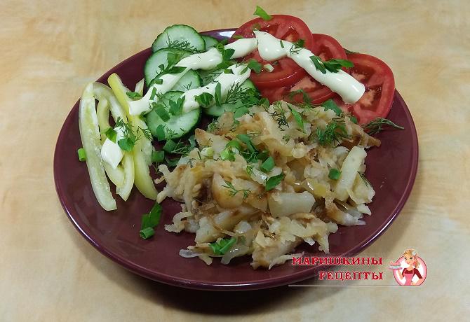 Картофельный гарнир с овощами