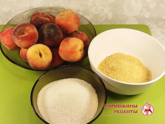 Подготовим ингредиенты для персикового желе