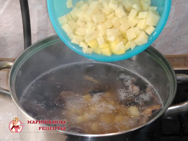 Засыплем картофель в суп