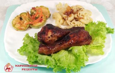 Оригинальное блюдо куриные голени в медово - горчичном соусе