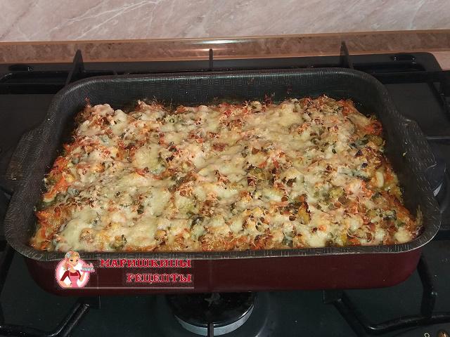 Готовое горбуша с картошкой в духовке