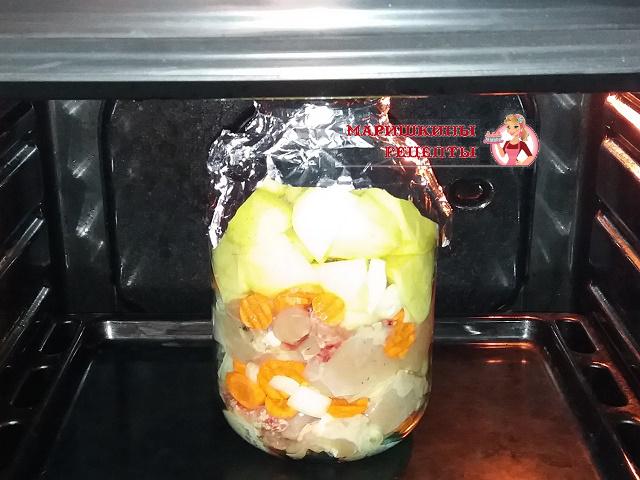 Ставим банку в холодную духовку